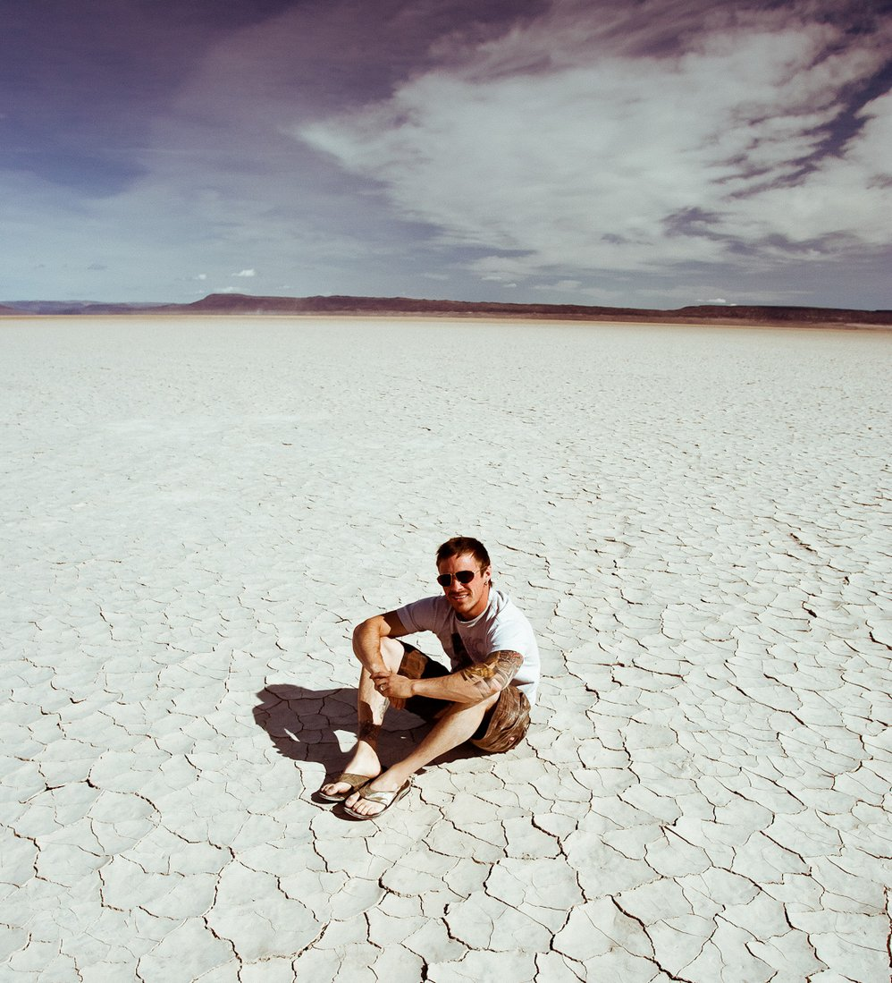 Self Portrait in the Alvord Desert, Oregon