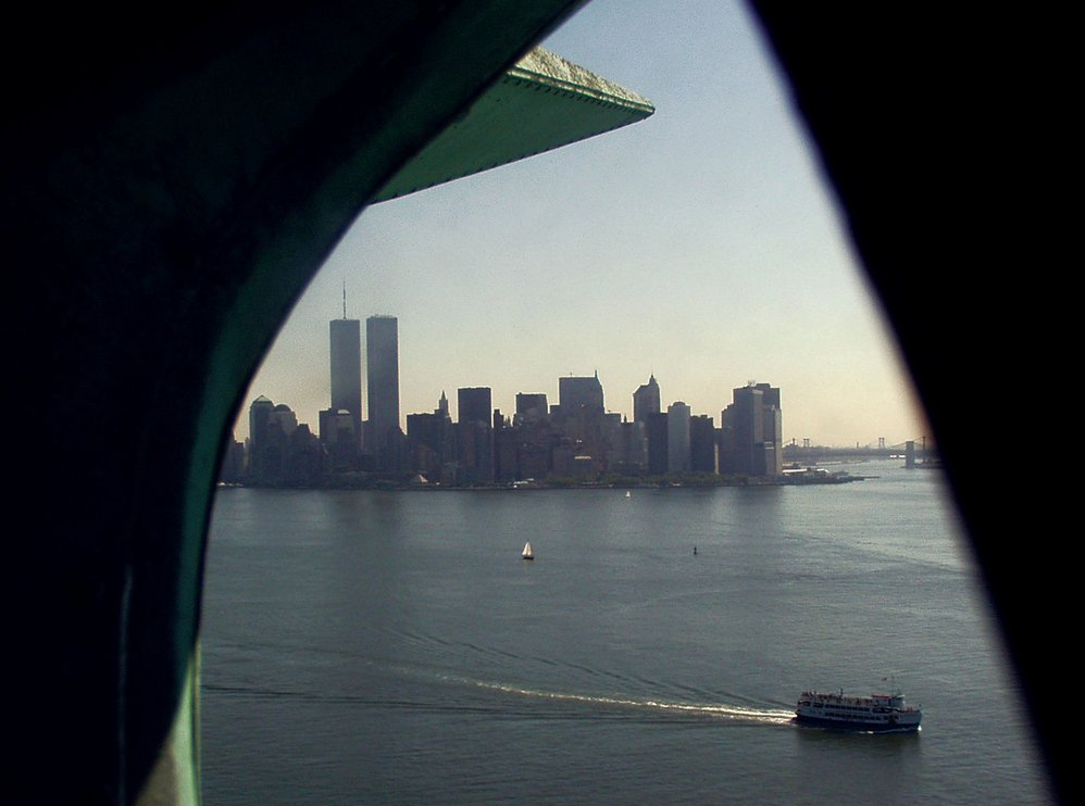 Looking Out from Lady Liberty